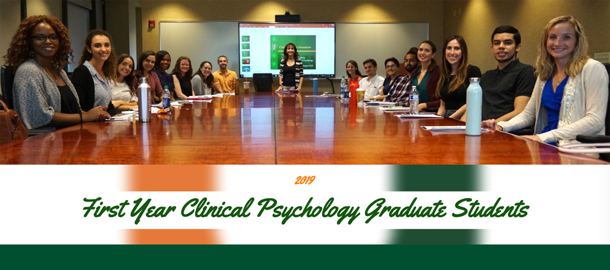 First Year Clinical Psychology Graduate Students
